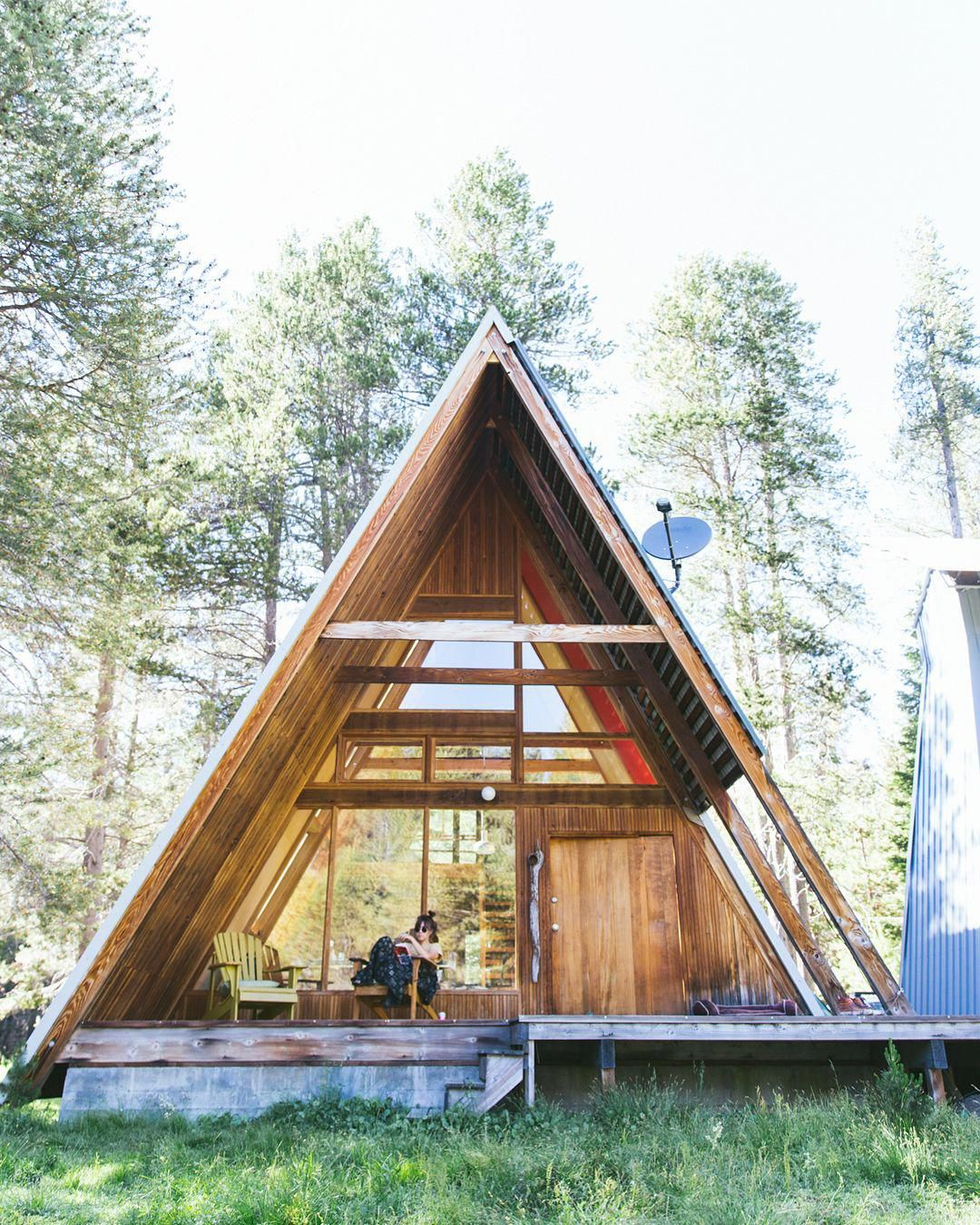 Photo Laura Austin Aframeinterior Tiny House Cabin A Frame Cabin A Frame Cabin Plans