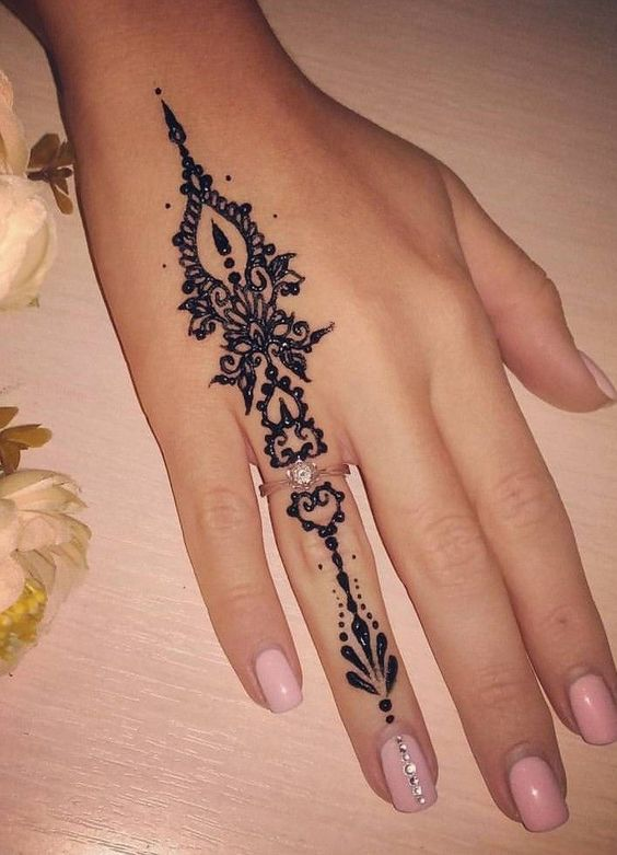 40 Cool Tattoo Ideas For Girls Who Want To Get Inked Small Henna Henna Tattoo Designs Small Henna Designs