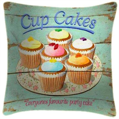 Cup Cakes Party Cakes - Martin Wiscombe - Art Print Cushion
