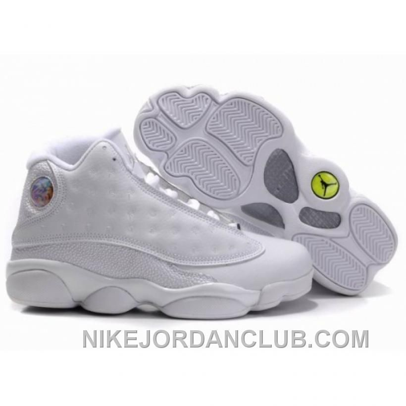 check-out e5088 25e31 Air Jordan Retro 13s Shoes 13 All White | Premier League ...