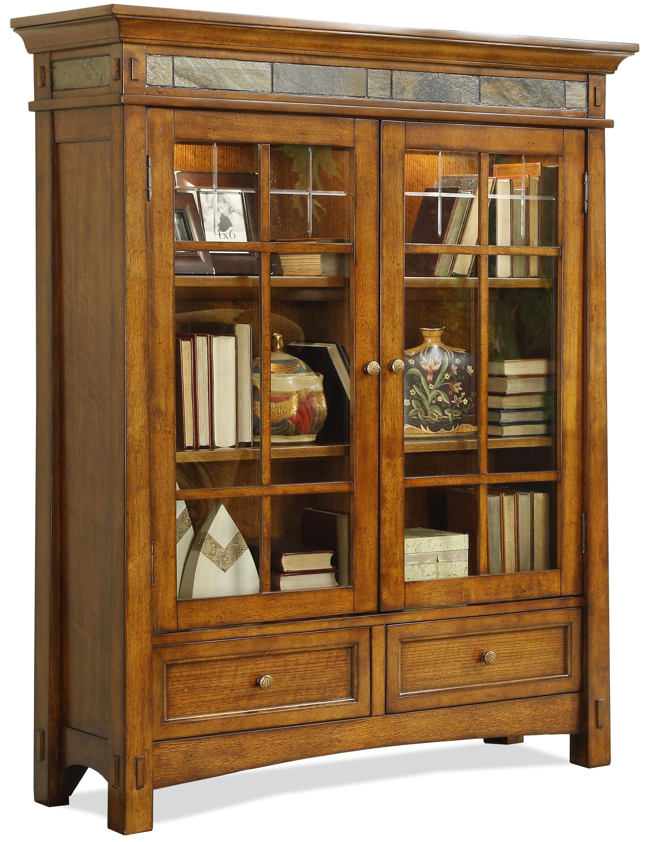 Arts and crafts style bedroom furniture - Craftsman Home Door Bookcase By Riverside Furniture