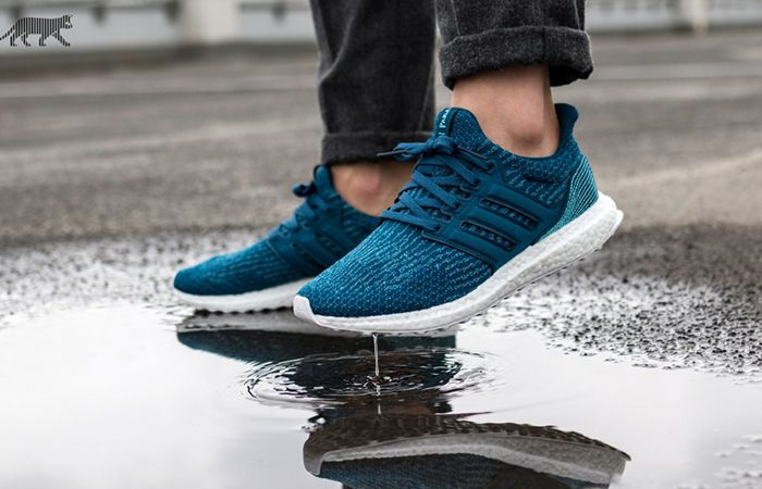 4b5ea952386be Made from ocean plastic waste . Parley x adidas Ultra Boost 3.0