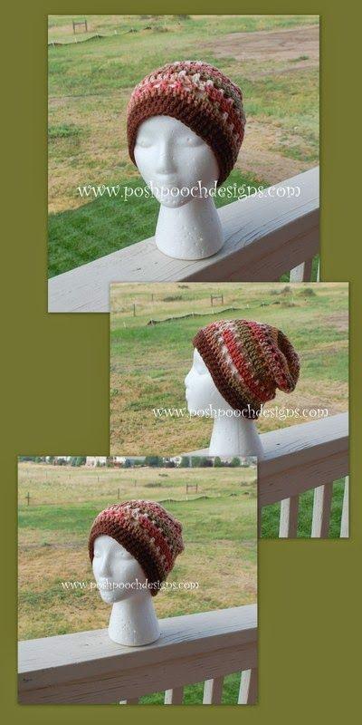 Men\'s Summer Beanie Crochet Pattern   2-KAPE-   Pinterest   Gorros ...