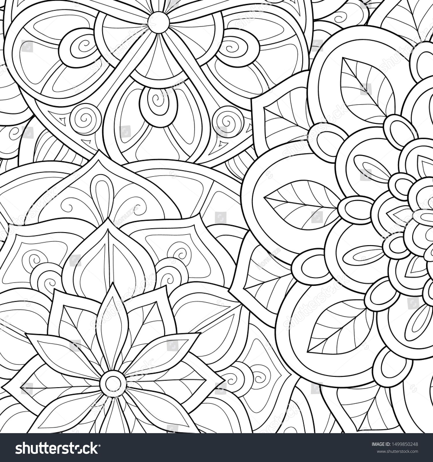 Pin By Amy Jackson On Coloring Pages In 2020 Abstract Floral Abstract Backgrounds Pattern Coloring Pages