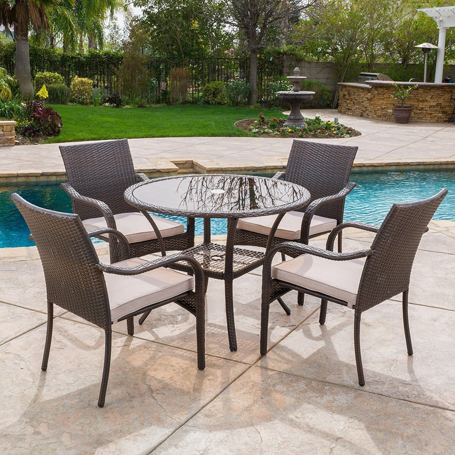 Wicker Patio Dining Sets Outdoor Wicker Patio Furniture Wicker Dining Set Beachfront Decor