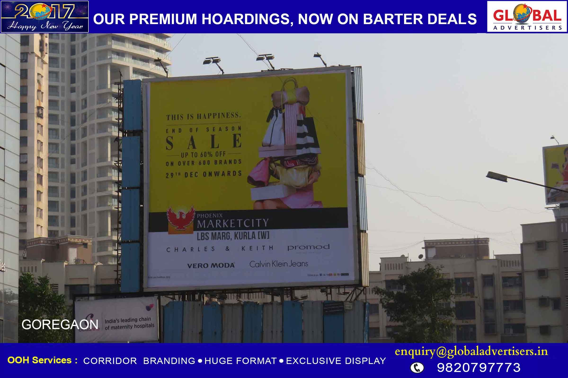 Global Advertisers Executes Outdoor Campaign For Marketcitykurla Ooh Outdoorpromotion Advertising Hoardings Outdoor Advertising Advertising Branding