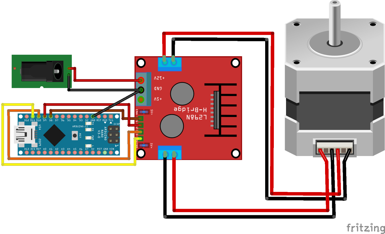 Arduino Nano L298 Stepper Motor Diy Hobby Electronics Controlling The Wirelessly Through Rf Link We Are Using Raspberry