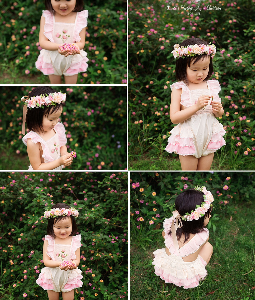 Growing and changing so much, and so adorable.   The apple of her mama's eye. #minisession #flowercrown #lantana #brisbanephotographer #littlegirl