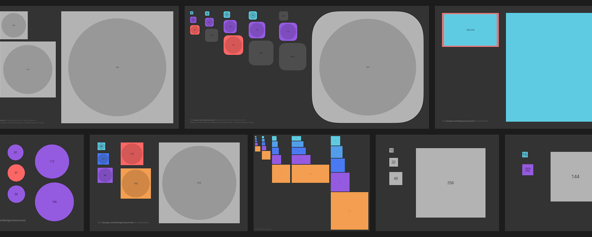 Bjango App Icon Templates    A comprehensive set of app icon ...