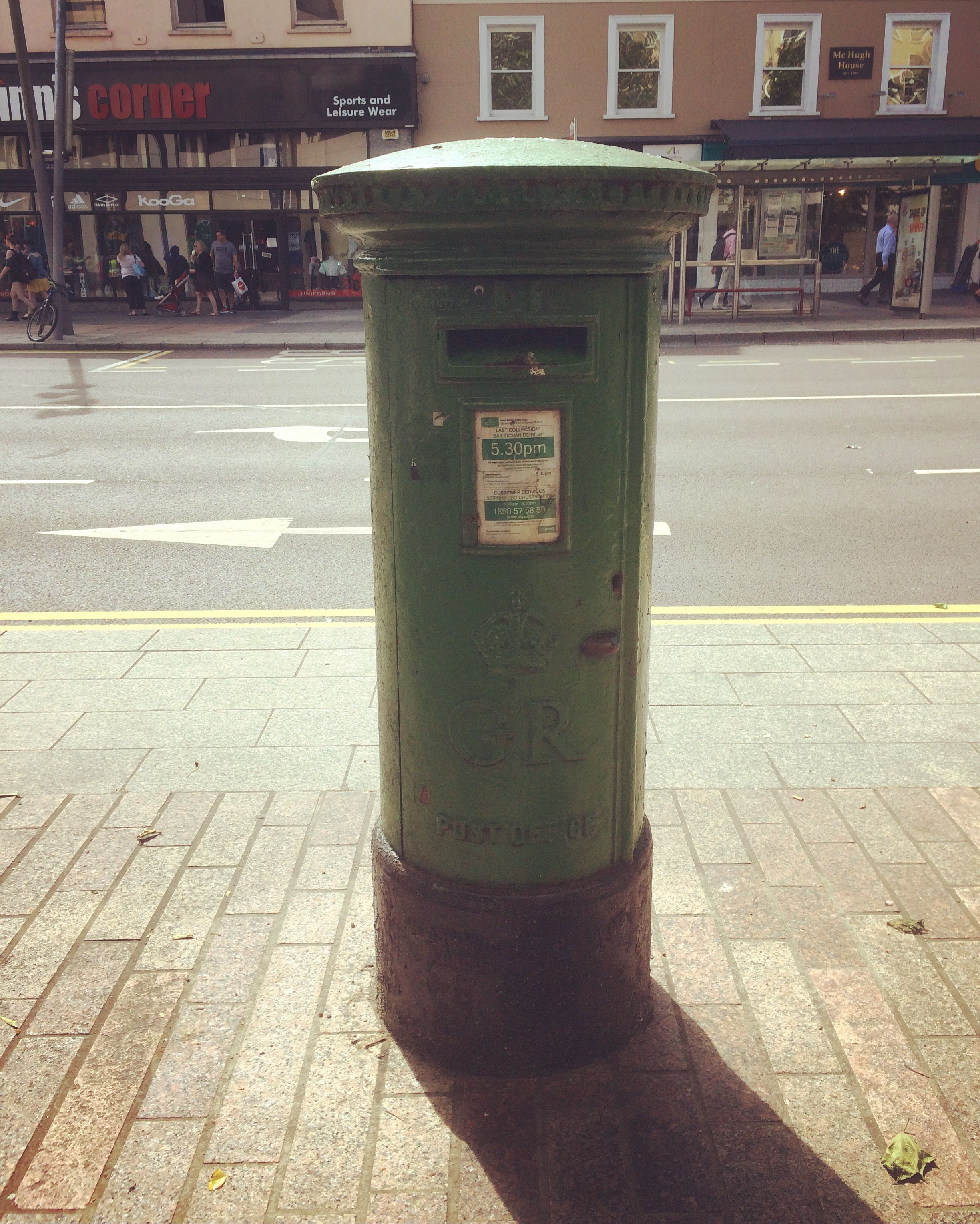 Irish Post Box From British Rule Times Painted Green Since