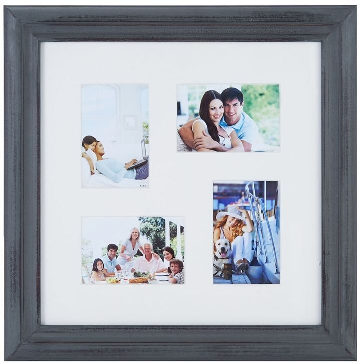 Melannco 4-Opening Distressed Collage Frame, White | Products
