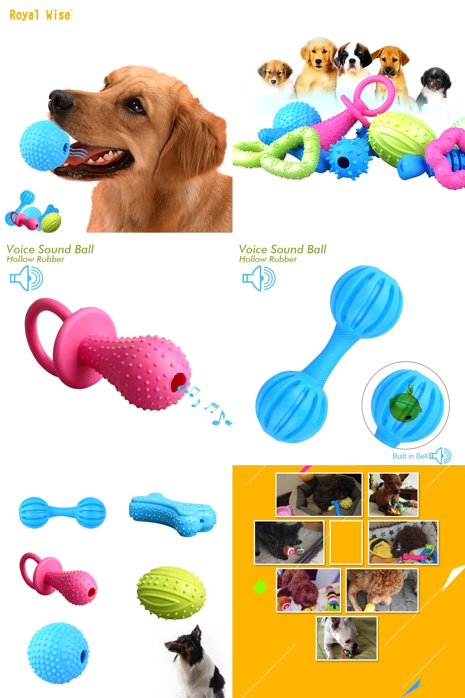 Visit To Buy Squeaky Toy For Dogs Teeth Bite Natural Rubber Dog