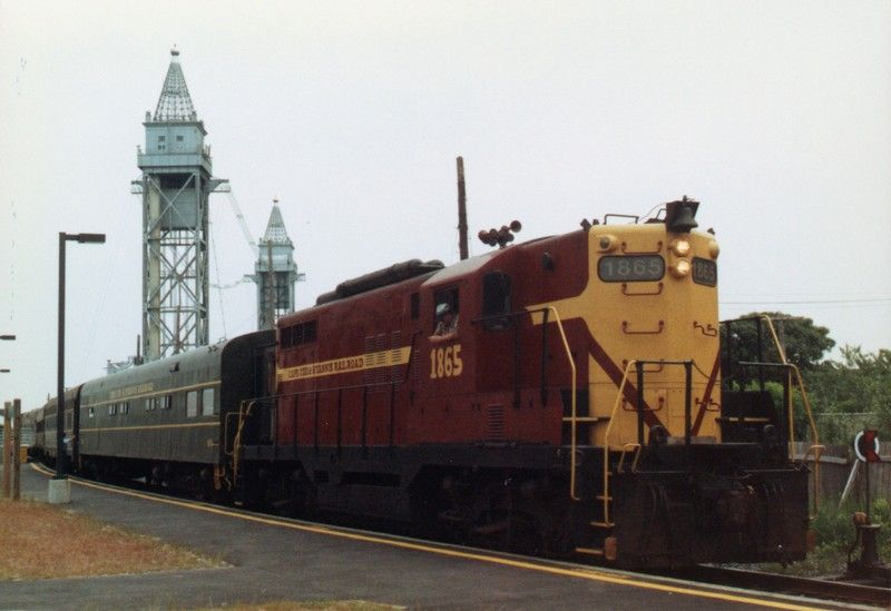 An old Cape Cod  Hyannis GP-9 No. 1865 near Buzzards Bay sometime in the mid to late 1980s. Photo via Cape Cod Central Railroad