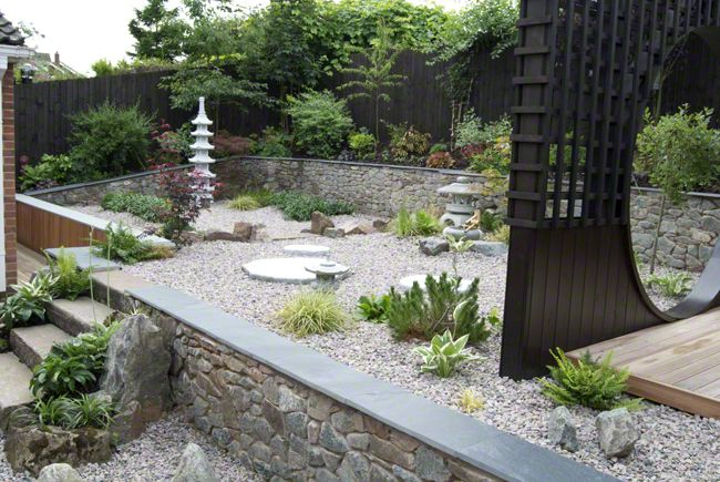 Japanese Style Garden In Rothley Leicestershire Uk C Lush Landscape Garden Design Ltd 2014 Small Japanese Garden Japanese Garden Style Zen Garden Design