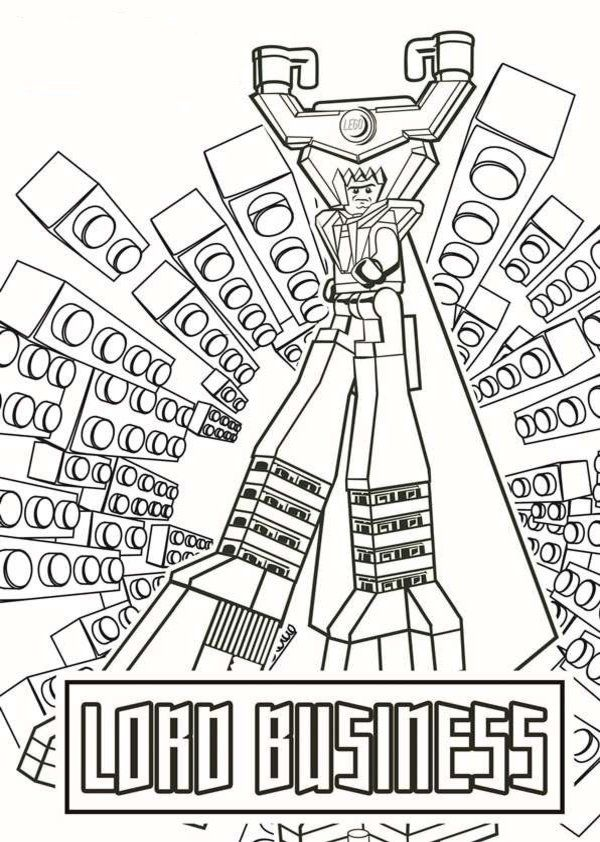 Lord Business LEGO Movie Coloring Pages BJB Pinterest Lego - copy coloring pages lego minifigures