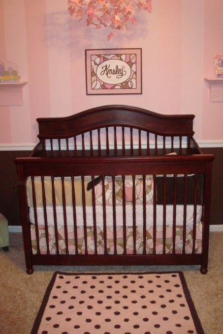 Awaiting Ansley Pink/Brown Nursery, We Are Expecting Our Second Little Girl  At The End Of April. We Used The Same Bedding And Furniture Fro.
