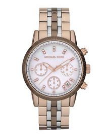 720565f30 Love the tricolored watch. Y10S0 Michael Kors Ritz Chronograph Watch,  Tricolor