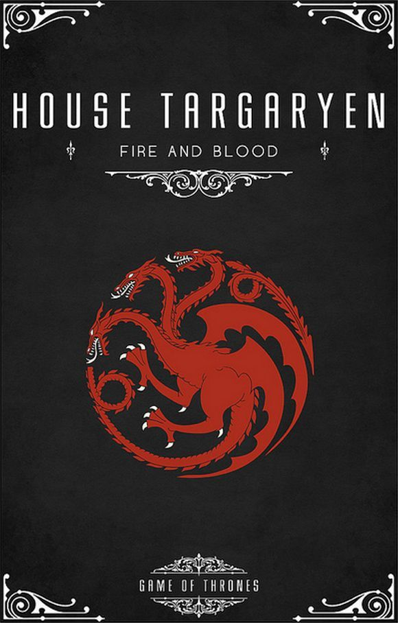 game of thrones minimalist poster targaryen - Google Search
