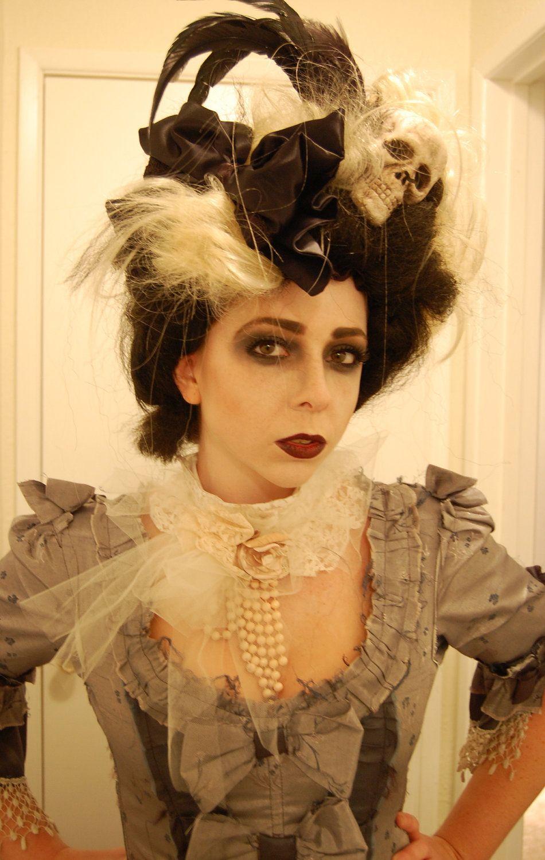 Crazy Victorian Day of the Dead Skull rococo Wig Halloween. $55.00, via Etsy.