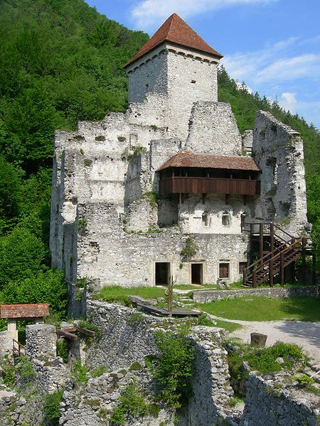 Grad Kamen (Rock castle), castle in Slovenia (near Begunje na Gorenjskem) - the oldest part from 13. century