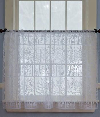 Tree Of Life Lace Tier Panel Country Curtains 174 Country