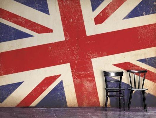 Mural Mural On The Wall Engeland Londen En Union Jack