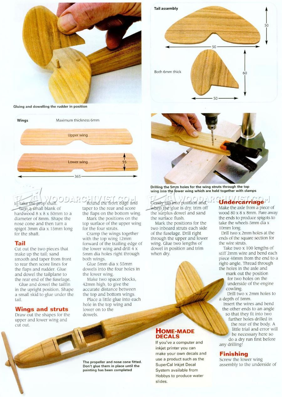 2753 model biplane plans - wooden toy plans | wood working