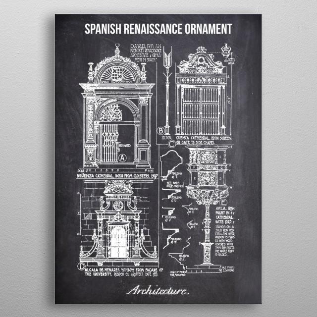 spanish renaissance by FARKI15 DESIGN | metal posters - Displate | Displate thumbnail