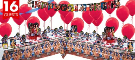 Wwe Party Supplies Wwe Birthday Party City My Son