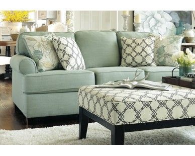 Sea Foam Green Sofa Sam Levitz Furniture Sale Price 399