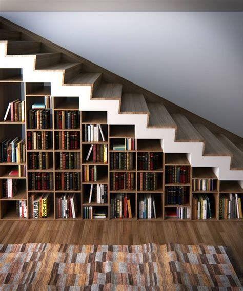 Top 70 Best Under Stairs Ideas: Best 5 Bookshelf Under Stairs Bookcases #stairs