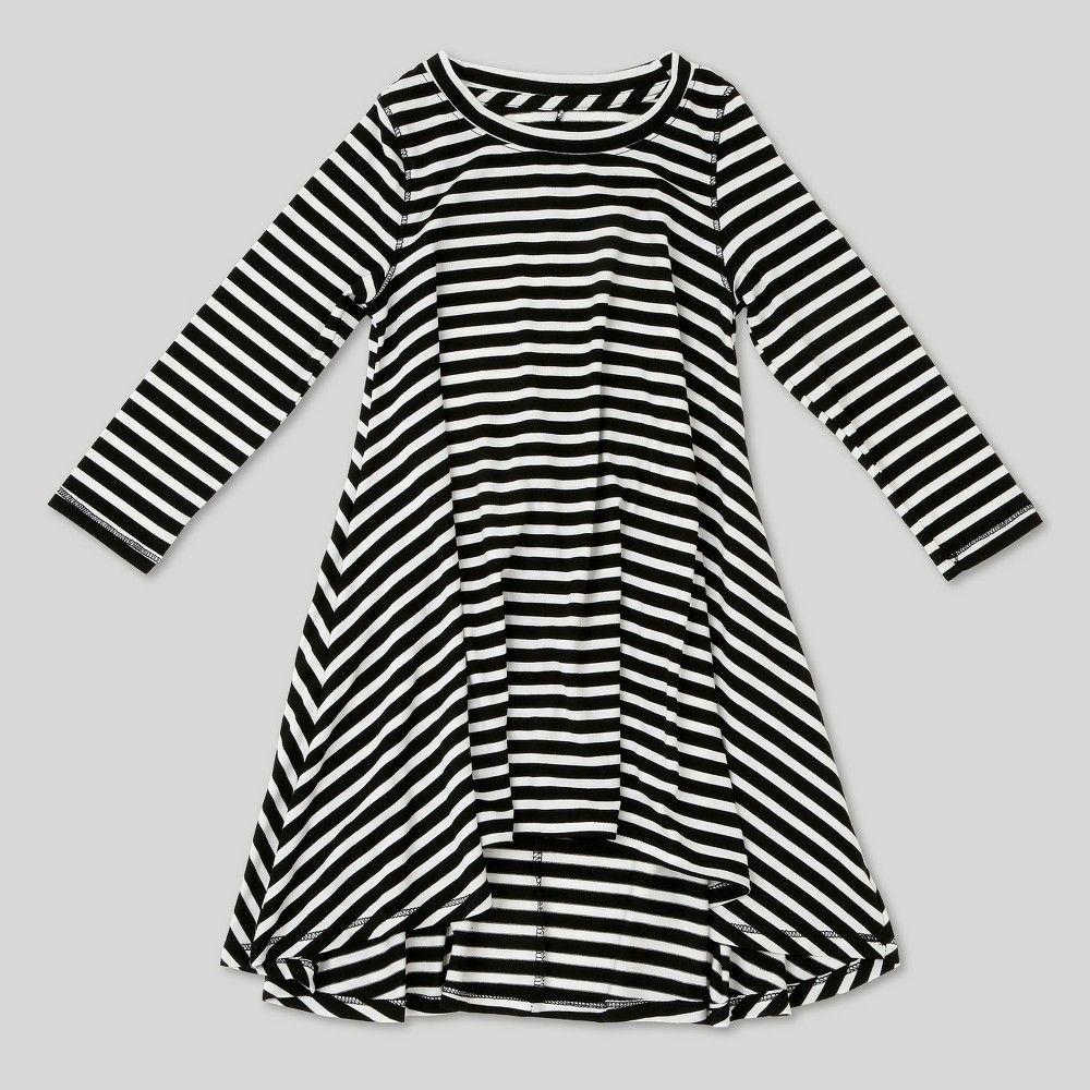 8b5b17dfb Toddler Girls' Afton Street Striped A Line Skirt 18M, Black ...