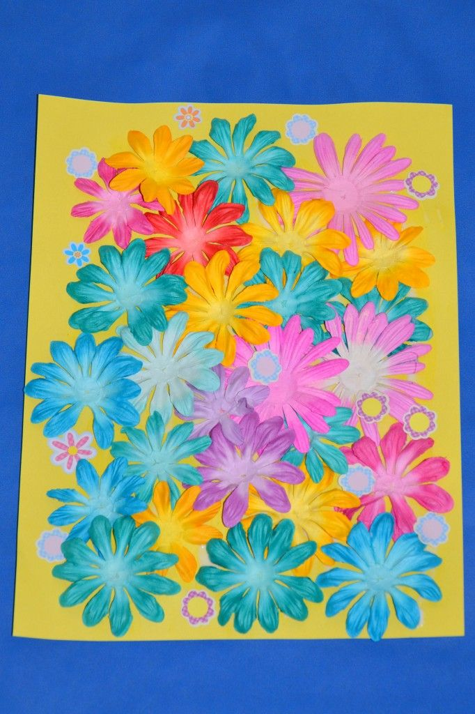 kids craft how to make a paper spring flower collage - Spring Pictures For Kids