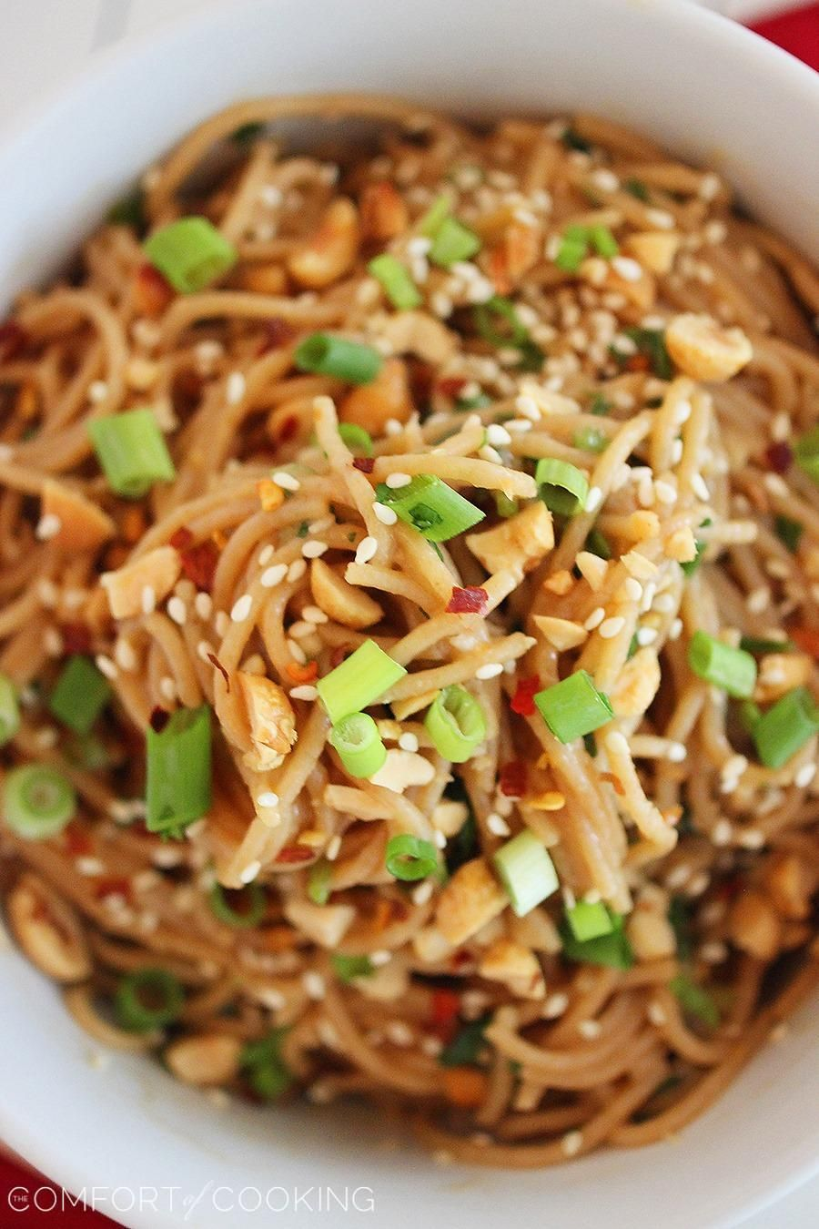 Asian Peanut Noodles With Chicken Lightened Up | Recipe | Asian ...