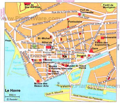 La Havre France | Tourist map, Map, Writing inspiration