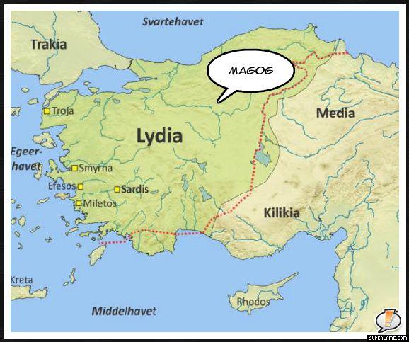 Magog Lydia Magog Ancient Lydia Map Of Magog In His Multi Volume