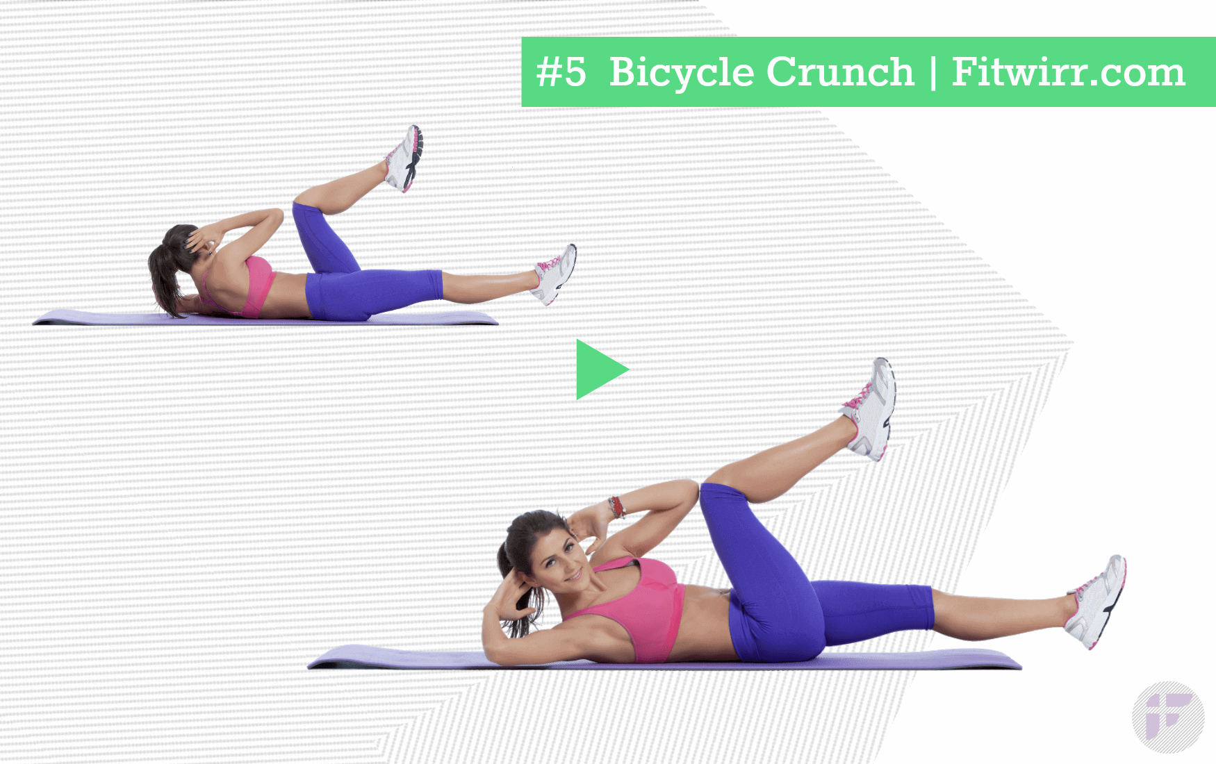 Bicycle crunch abs exercise for women Abs workout, Best