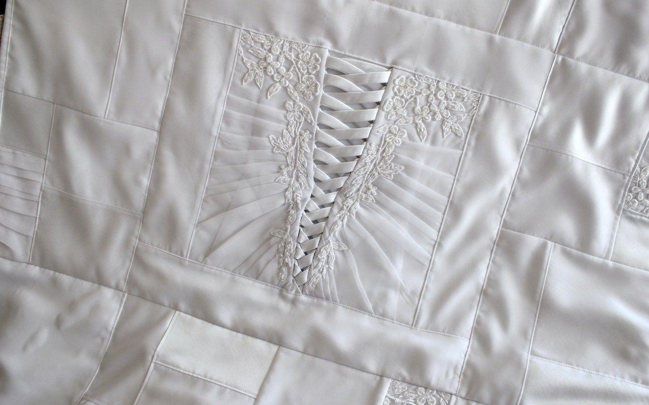 Repurpose wedding dress  Wedding Dress Quilts  Wedding dress quilt and Repurpose