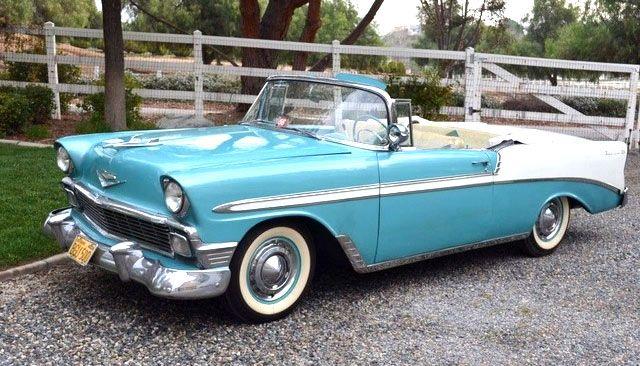 1956 Chevrolet Bel Air 150 210 Convertible 1950s Vintage Cars