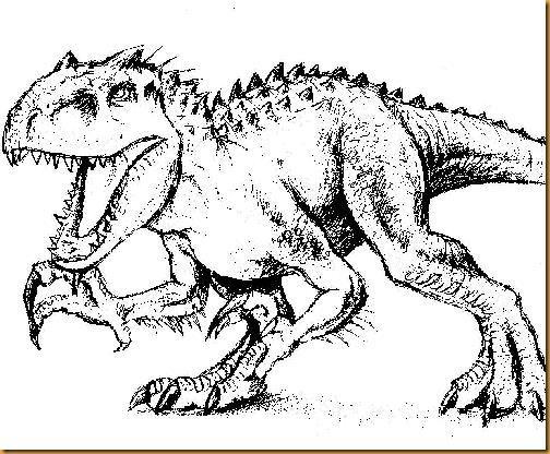 Indominus Rex Jurassic World 0007 Indominus Colores Y Dibujos