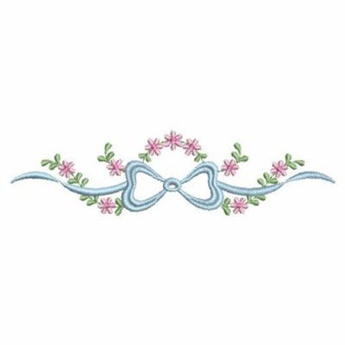 Heirloom Bow Border Embroidery Design | Applique wish list ...