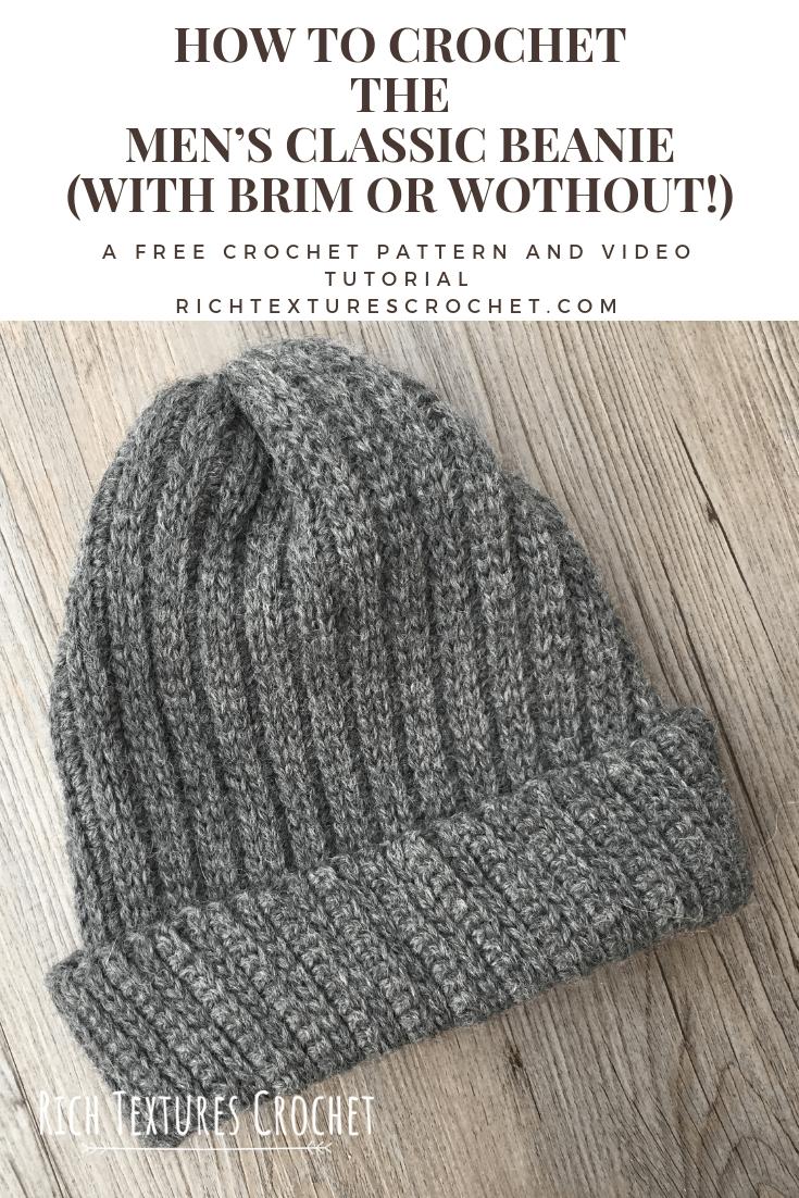 Men's Classic Beanie – Free Crochet Pattern | Rich Textures Crochet – Things to Wear