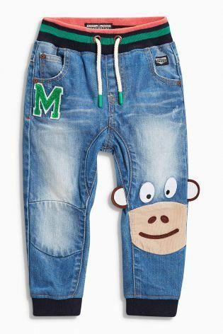07d394fb45 Buy Denim Mid Blue Monkey Jeans (3mths-6yrs) online today at Next  United  States of America  BoyNewFashionDress