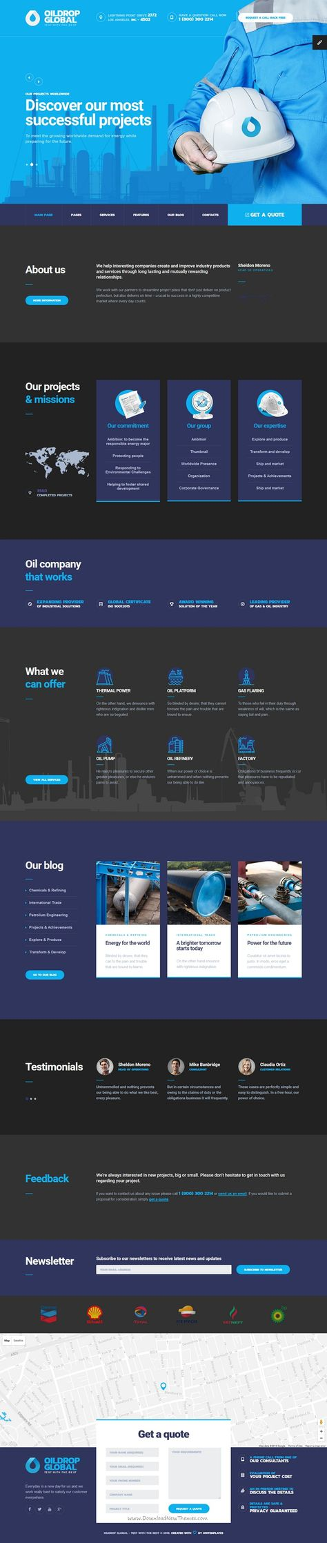 OilDrop - oil and gas industrial HTML template with Builder ...