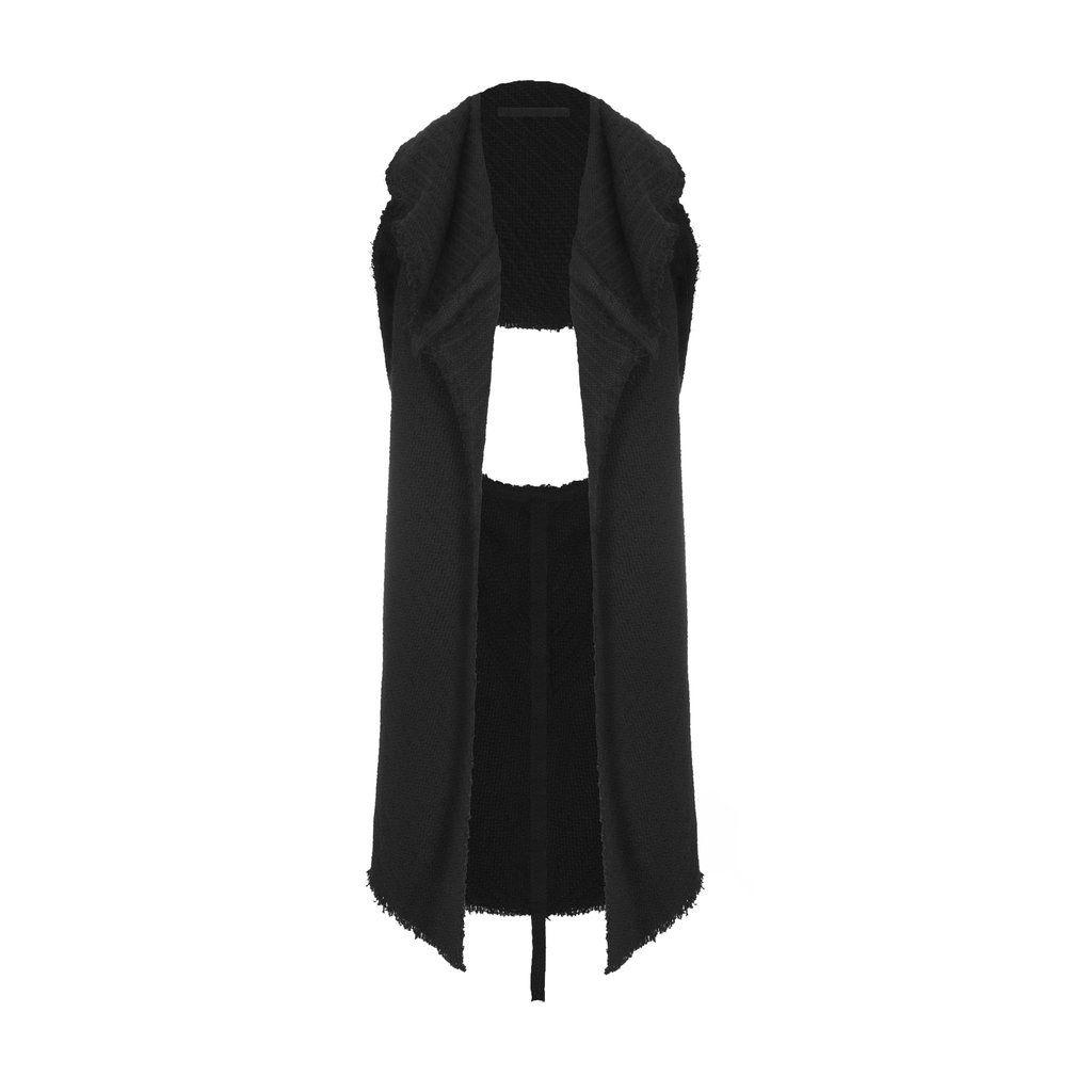 Emerging designer Pavlina Jauss black Silber Woven Waistcoat - Erebus