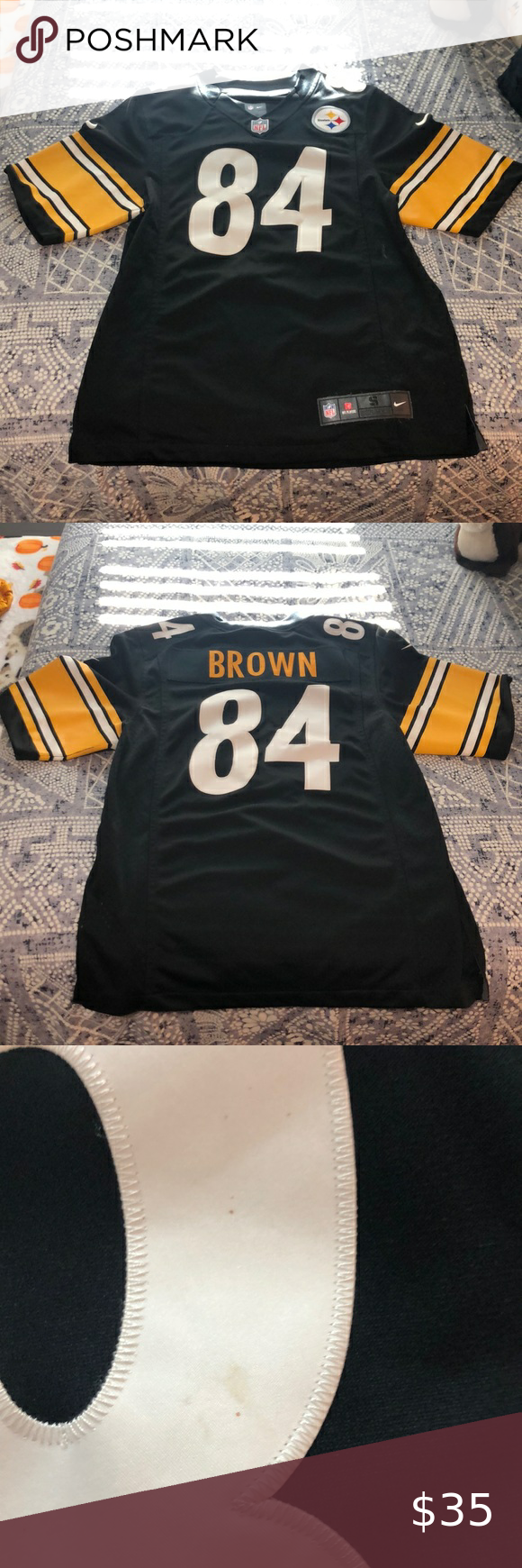 antonio brown jersey stitched