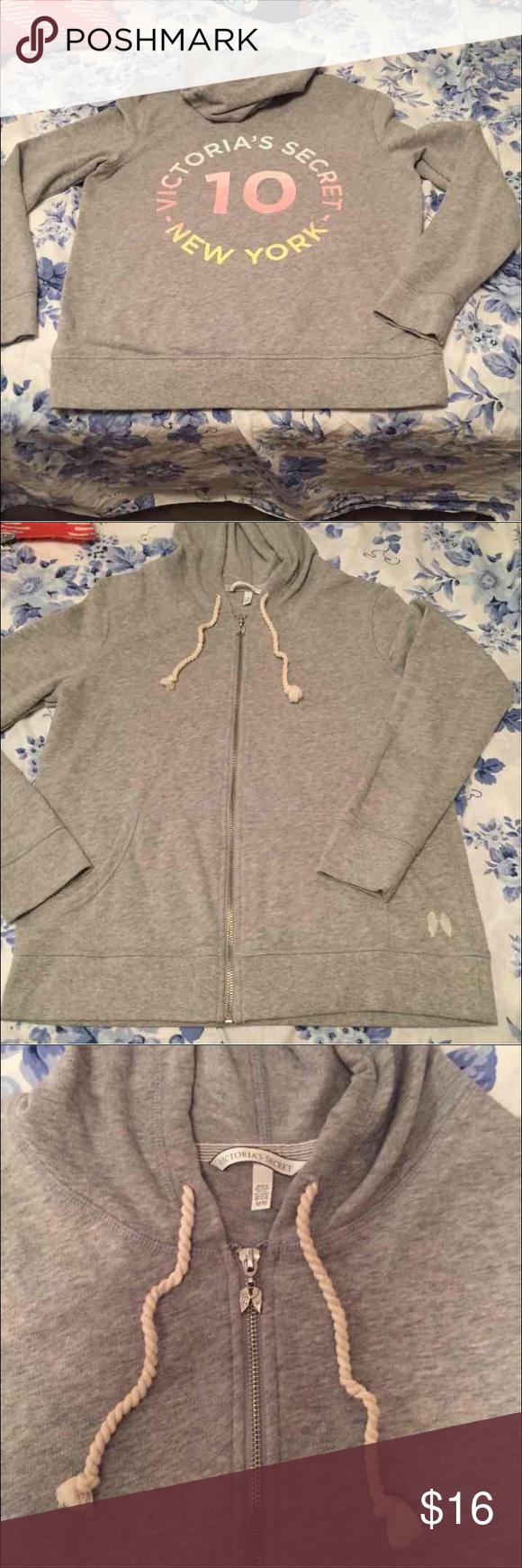 Victoria's Secret 10 hoodie! Size medium!  No flaws has cute wings zipper!  The hoodie has wings near the pocket on front of hoodie! Victoria's Secret Jackets & Coats
