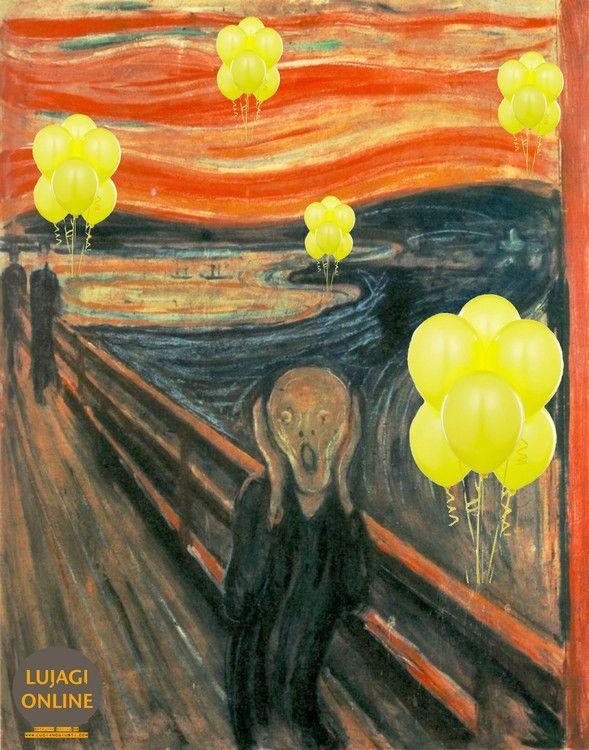 Version digital de El Grito de Edvard Munch