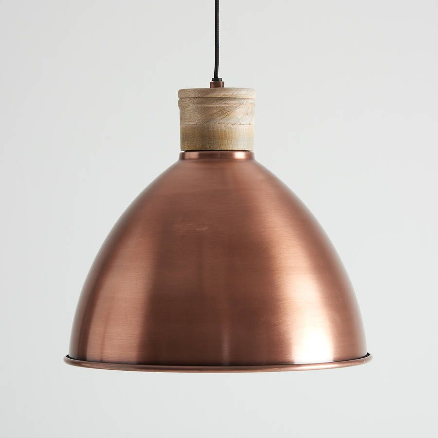 Antique Copper And Natural Wood Pendant Light Wood Pendant Light Pendant Light Wood Pendant