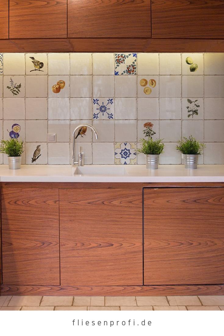 Wandfliese Retro Dekor Vintage Landhaus antik Shabby glänzend